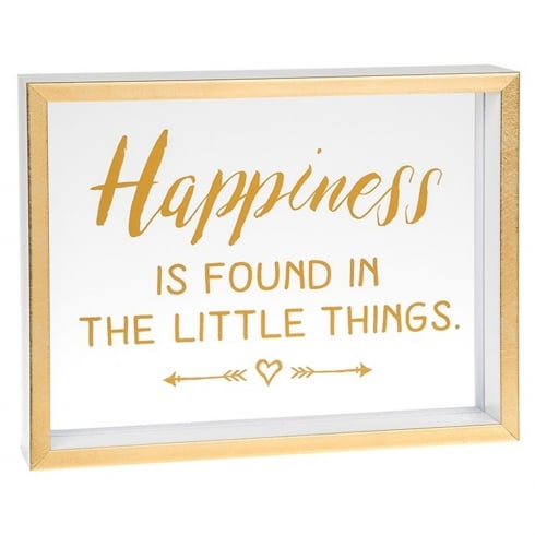 Shudehill Giftware Heartfelt Sentiments Happiness Is Found In The Little Things Freestanding Plaque