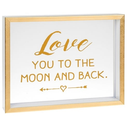 Shudehill Giftware Heartfelt Sentiments Love You To The Moon And Back Freestanding Plaque