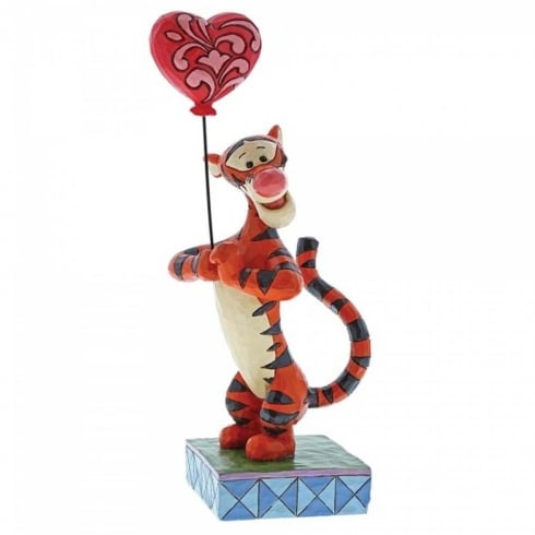 Disney Traditions Heartstrings Tigger with Heart Balloon Figurine