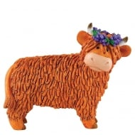 Heather Cow Figurine