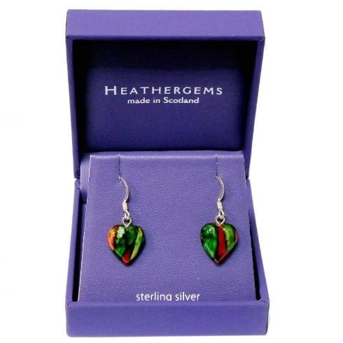 Heathergems Heather Heart Silver Plated Drop Earrings