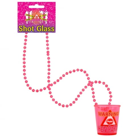 Wicked Nights Ltd Hen Party Shot Glass With Necklace