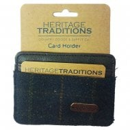 Heritage Card Holder Blue Check