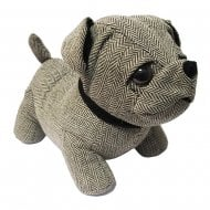 Herringbone Tweed Door Stopper Bull Dog