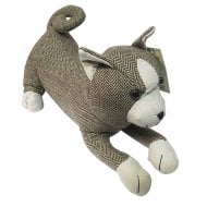 Herringbone Tweed Door Stopper Cat