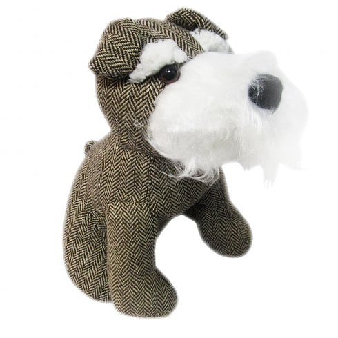 Samuel Lamont Herringbone Tweed Door Stopper Terrier