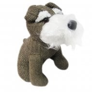 Herringbone Tweed Door Stopper Terrier