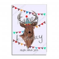 High Heid Yin Scottish Birthday Card