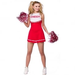 High School Cheerleader - Red (L)