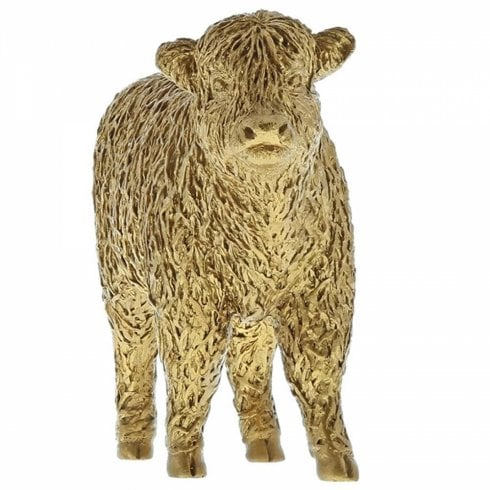 Border Fine Arts Highland Calf Gold Cow Figurine