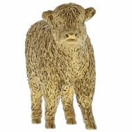 Highland Calf Gold Cow Figurine