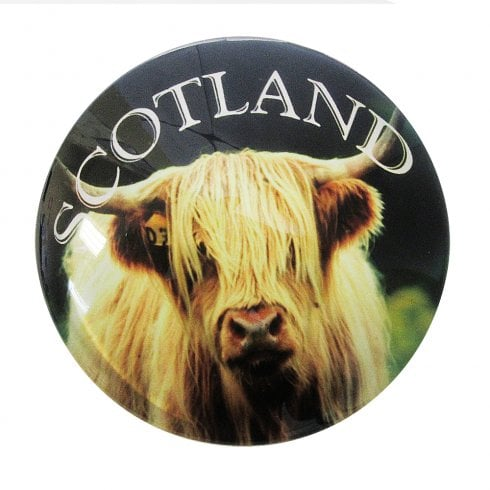 Thistle Products Ltd Highland Coo Glass Magnet