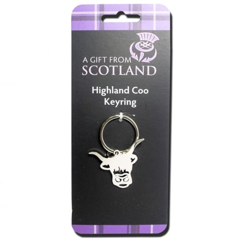 Thistle Products Ltd Highland Coo Keyring