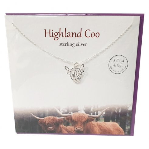 The Silver Studio Highland Coo Pendant