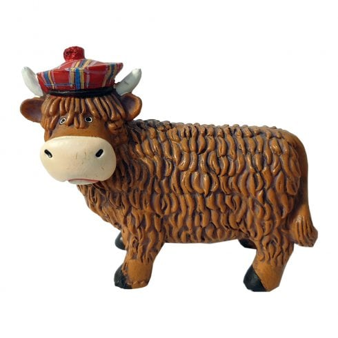 Thistle Products Ltd Highland Cow Coo Resin Figurine