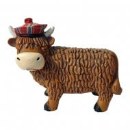 Highland Cow Coo Resin Figurine