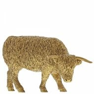 Highland Cow Gold Figurine
