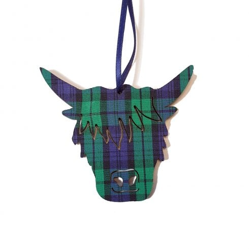 Artcuts Highland Cow Head Decoration Black Watch