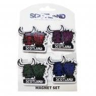 Highland Cow Magnet Set