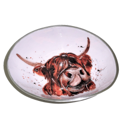 Highland Cow Oval Bowl Small 16cm