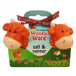 Highland Cow Salt & Pepper Set Woolly Ware