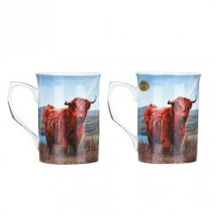 Highland Cow Set Of Two Mugs