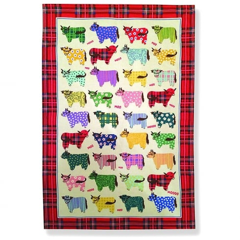 D & C Highland Cow Tea Towel