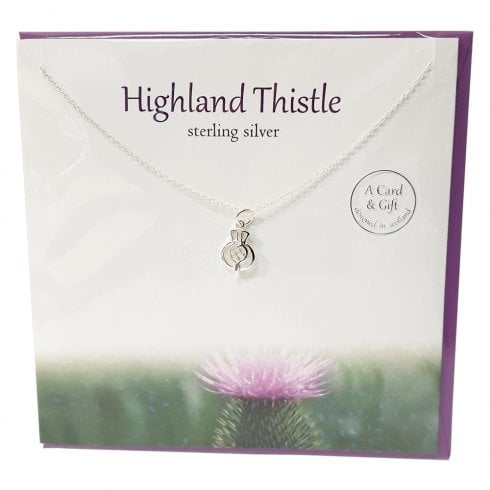The Silver Studio Highland Thistle Pendant