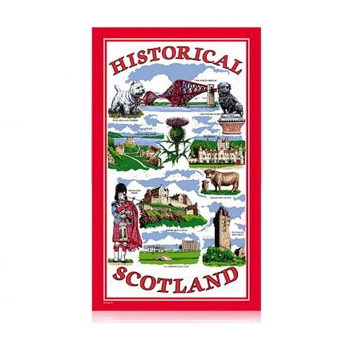 Elgate Historical Scotland Tea Towel