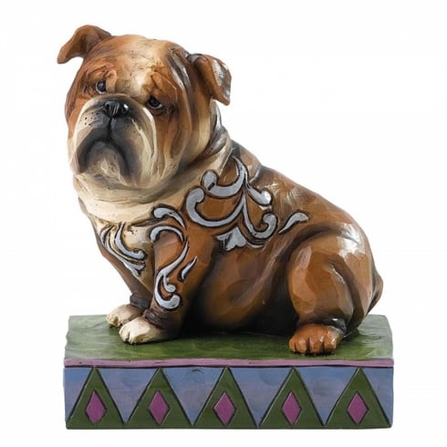 Jim Shore Heartwood Creek Hogan English Bulldog Dog Figurine