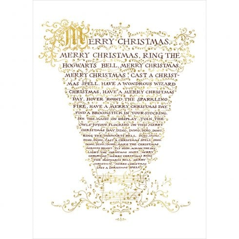 Mint Publishing Hogwarts Christmas Carol Sheet Card