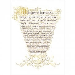 Hogwarts Christmas Carol Sheet Card