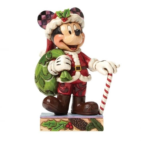 Disney Traditions Holiday Cheer For All Mickey Christmas Figurine