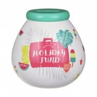 Holiday Fund Ceramic Money Pot