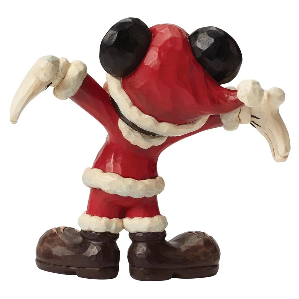 Disney Traditions Holiday Gift Santa Mickey Mouse Figurine ...