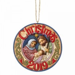 Holy Family 2019 Dated Hanging Ornament