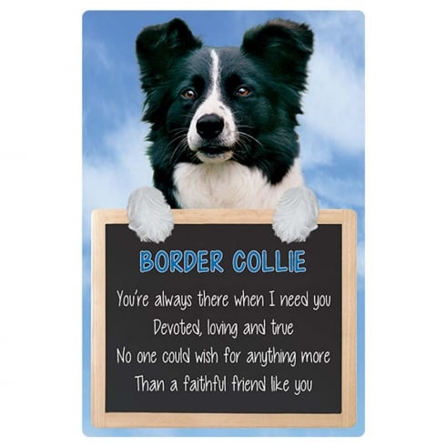 Faithful Friends Collectables Home 3D Hang-Up Border Collie