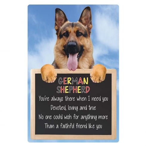 Faithful Friends Collectables Home 3D Hang-up German Shepherd