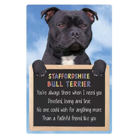 Faithful Friends Collectables Home 3D Hang-Up Staffordshire Bull Terrier (Black)