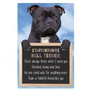 Home 3D Hang-Up Staffordshire Bull Terrier (Black)
