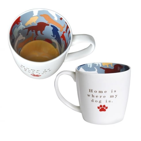 Two Up Two Down Home Is Where The Dog Is Mug