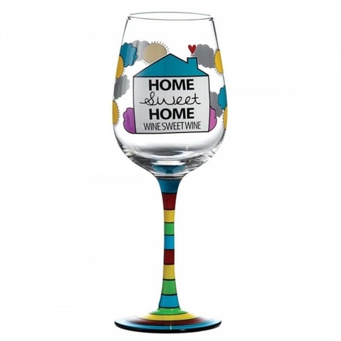 Our Name Is Mud Home Sweet Home Wine Glass
