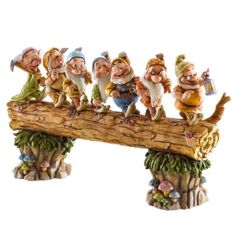 Disney Traditions Homeward Bound (Seven Dwarfs on log) Diarama