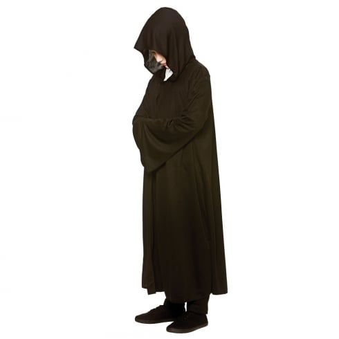 Wicked Costumes Hooded Robe - Black