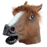 Horse Overhead Mask Brown