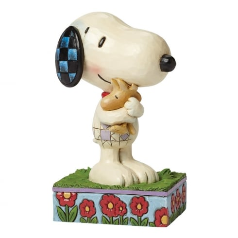 Jim Shore - Peanuts Hug Time Snoopy and Woodstock Hugging Figurine