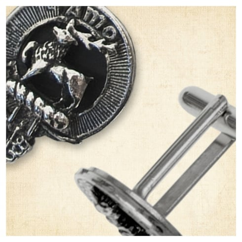 Art Pewter Hunter Clan Crest Cufflinks