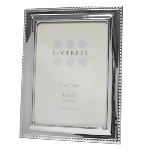 Sixtrees Hunter - Silver Plated Photo Frame 4 x 6