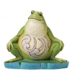 I Eat What Bugs Me Small Lazy Frog Figurine