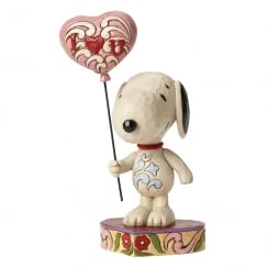 I Heart You Snoopy With Balloon Figurine